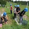 5年自然教室  大山千枚田  体験活動