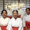 金華山にて、龍神祭を支えるボランティア巫女ツアーを開催しました。
