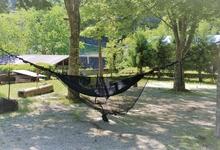 雨でも快適なハンモック泊。大きめのタープと防水バックで快適キャンプ