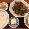 ナスと肉の炒め定食(精陽軒)