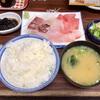 神奈川区山内町 横浜市中央卸売市場の「おてる」で刺身盛り合わせ定食
