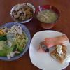 幸運な病のレシピ( 2155 )昼 :満腹になって血糖値の上がらない冷やし中華(冷シャブ、青梗菜炒め、カリフラワ、卵焼き)