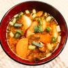 皮つき人参&三原安全豆腐がメインのお味噌汁