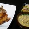 豚肩ロースグリル、里芋サラダ、スープ