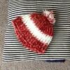 ダイソーの毛糸&かぎ針で子供の帽子を作りました