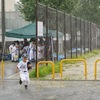 練習試合が雨天中止