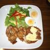 昨日の息子のお夕飯 鶏モモ肉の生姜焼き