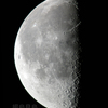 未明の弓月(月齢21.370)