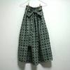 麻 青花模様 リボンベルトのゴムスカート Fサイズができました!