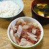 今日の食べ物 朝食に玉葱とコンビーフの炒め物