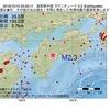 2016年10月10日 03時55分 高知県中部でM2.3の地震