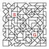 四角渡り迷路:問題16
