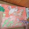 5年生:図工「大造じいさんとガン」彩色