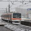 雪の武蔵野線、205系に会いに。