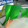 Ninja400Rのサイドカウルをゴールデンブレイズドグリーンでリペアペイント!