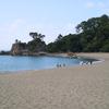 時代の改革者、坂本龍馬の銅像がある桂浜へ。想像以上の光景に驚き。