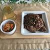 仔牛のレバー(フォアドヴォ fois de veau)ソテー タマネギソース芍薬の花のシロップ風味