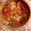 簡単朝食じかん・トマトサラダ・パン【小さな幸せのひととき】#22