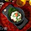 日本のエキゾチックフード「白子ポン酢」を器ごと乗せました。 クオリティ、いとをかしなiPhoneケース