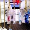 【がらす工芸札幌】ガラスドームのキラキラ水晶ネックレス