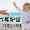 娘の成長記録【1歳1ヶ月】