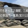 まぐろきっぷで満喫、三崎旅☆ 馬の背洞門~風車(宮川公園)