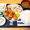 福徳食堂@原木中山 焼売定食(+鶏の唐揚げ250g)