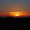 手取川で夕日が撮れました