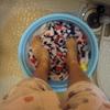 今朝、久しぶりに足洗いで洗濯しました。