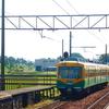 初代レッドアローも、通過列車もまた楽し^^…2015年富山地方鉄道(地鉄)西魚津駅