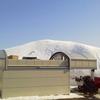 二月最後の晴天の下で 除雪 & 屋根の雪下ろし