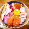 みなと食堂@陸奥湊 漁師の漬丼、つぶ貝刺身