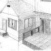 建物と背景のワンドロ (デジタル1枚 アナログ1枚)
