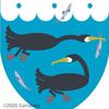 鵜の紋章。
