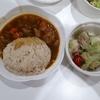 25日夕飯はカレーとサラダ☆禁酒デーです。