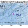 2017年07月24日 19時11分 東海道南方沖でM3.8の地震