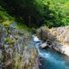 涼を求めて。緑深き渓流、鮫川竜神峡。