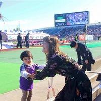 【マーガリン】京都サンガvsヴァンフォーレ甲府の試合、パパを全力応援してきたよ♡