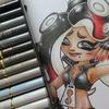 テンタクルズ・イイダ】色鉛筆でスプラ2塗り絵を塗ってみました☆100均ぬりえ・スプラトゥーン2より