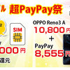 【ワイモバイル】iPhone12対応のSIM契約で最大14,000円ー超PayPay祭