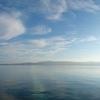 石川県能登半島 海に虹のかかる和倉温泉