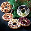 クリスマスリース型クッキー 「アップル&ローゼス」 オーナメント 5枚入り
