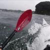 2020.07.12 カヤックサーフィン 三浦 (10m/s弱サイドオンのチョッピーな波)