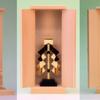 シンプルに神棚を祭ってみた 祓串、金幣芯、神鏡 御札舎本一社
