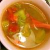 胡瓜とトマトと雑穀の具沢山韓国風スープ