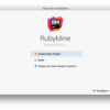 RubyMineでRuby on railsの開発をする その1: RubyMineインストールとプロジェクトの作成