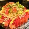 【1食122円】アボカド・トマト・チーズサラスパの自炊レシピ~水漬けパスタで時間短縮~