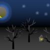EXCELで絵を描いた「月明かり」