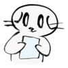 お手紙を読む猫の無料イラスト