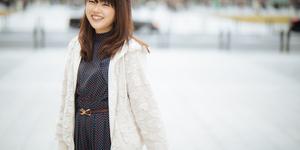 街中ポートレート 東京駅 フリー役者 江村あかりさん